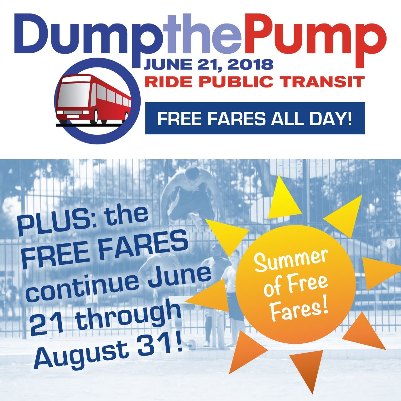 Dump the Pump 2018 and FREE FARES